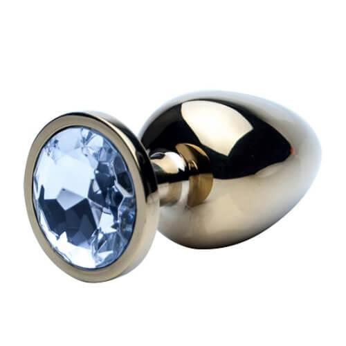 Precious Metals Gold Jeweled Butt Plug
